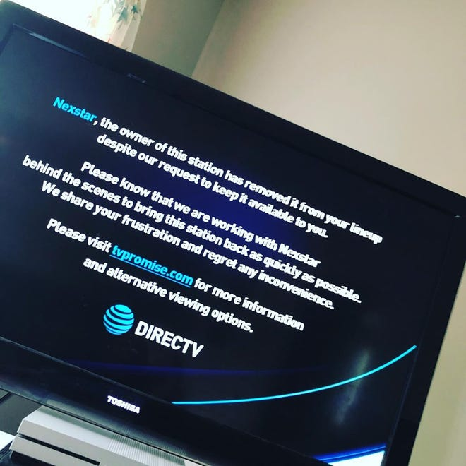 DirecTV and AT&T subscribers woke up to this message July 3 when they tried to access WLNS-TV, a local CBS affiliate.