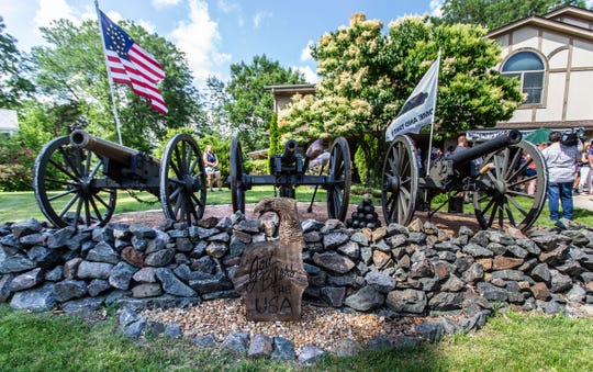 Civil War-era cannons are proudly displayed in front yard of Greenfield resident Frank Markel on Thursday, July 4, 2019. Markel has been battling noise complaints and city fines regarding his annual tradition of firing the cannons in honor of Independence Day.
