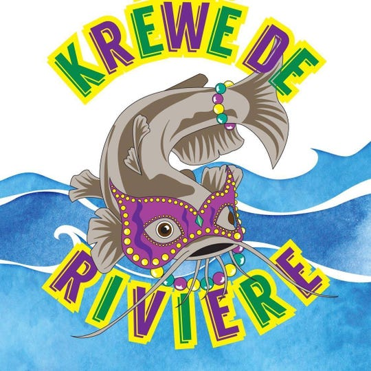 Twin Cities Krewe De Riviere's catfish mascot is named Roe.