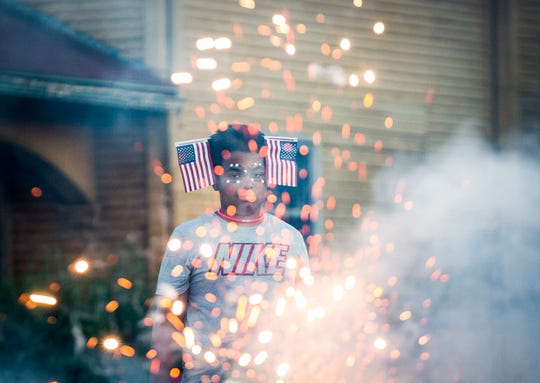 A Muncie resident celebrating Fourth of July in 2019.