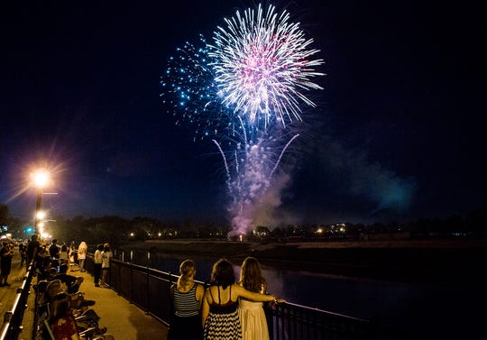 Muncie celebrating Fourth of July in 2019.