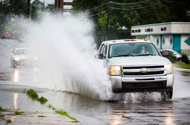 Muncie fell under a flash flood warning Friday, July 5, as storms moved through Delaware County.