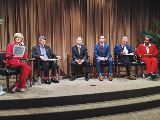 Mayoral forum on education sponsored by Nashville Public Education Foundation, Oasis Center, Conexión Américas and WSMV-TV at the First Amendment Center in Nashville on June 26, 2019.