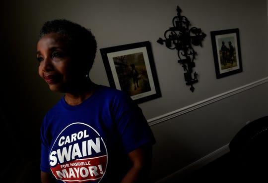 Nashville mayoral candidate Carol Swain at her home on Saturday, June 22, 2019, in Nashville, Tenn.