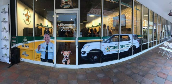 A view of the Lee County Sheriff's Office new satellite office at Miromar Outlets in Estero.