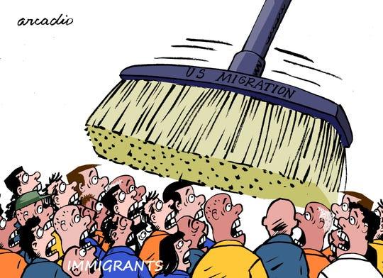 U.S. sweep vs. immigrants.