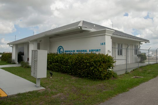 The Immokalee Regional Airport building is pictured, Friday, July 5, 2019, in Immokalee.