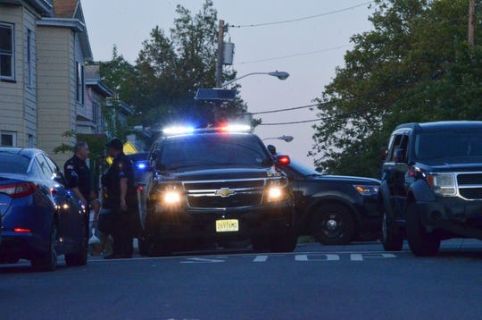 Paterson police investigate a shooting on Fulton Street July 4, 2019.