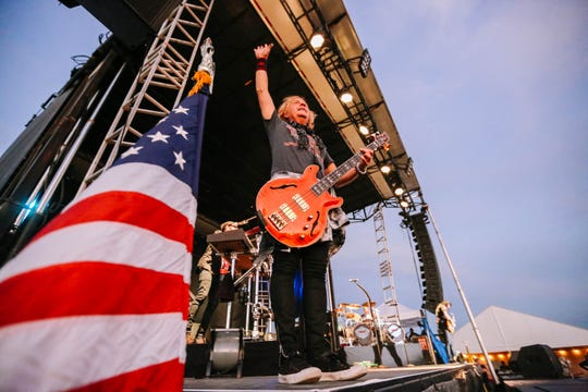 Jack Blades of Night Ranger performs at the city's annual Fourth of July Celebration on New Mexico State University campus on Thursday, June 4, 2019.
