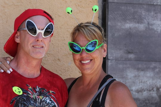 The annual UFO Festival featured live music and outdoor vendors, July 5, 2019 in Roswell.