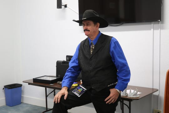 Derrel Sims discusses his alleged alien encounters during the UFO Festival, July 5, 2019 in Roswell.
