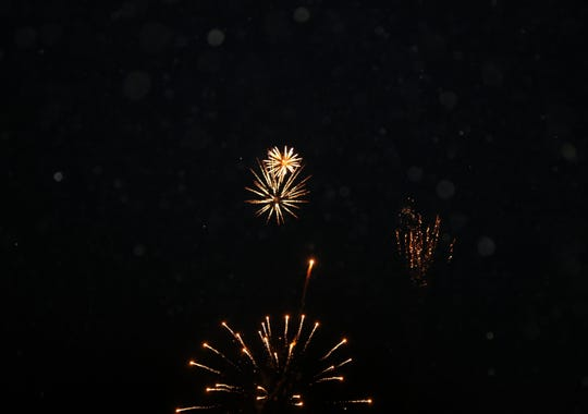 Fireworks of all colors filled the Fourth of July night sky over Carlsbad.