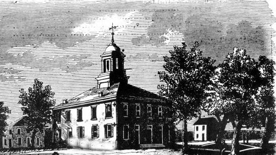 St. Landry Courthouse of 1847 from drawing in the 1850s.