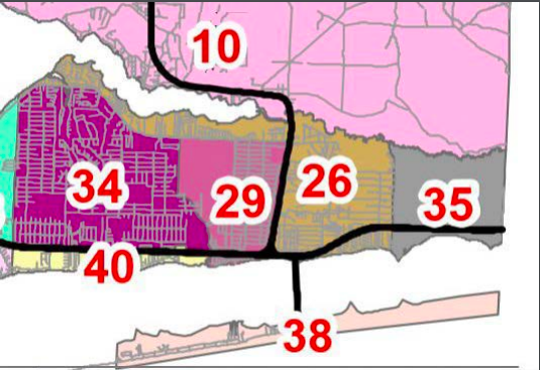 A little more than 32,000 voters reside within the seven precincts that are in the proposed boundaries for an incorporated Navarre.