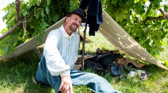 Union soldier reenactors of the 156th Battle of Gettysburg Anniversary impart  their historical knowledge on Friday.