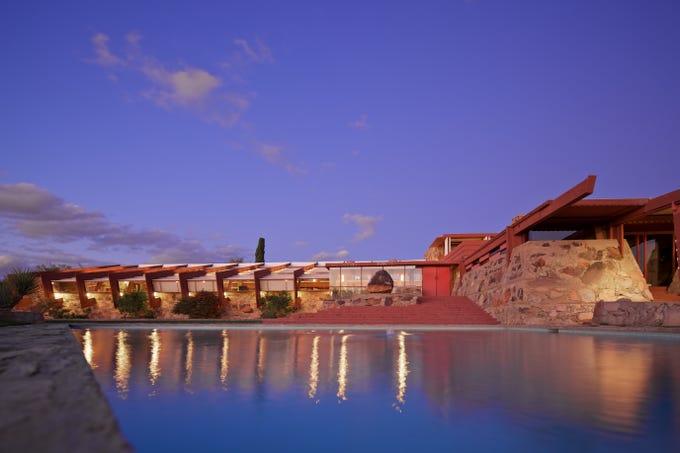 Taliesin West, Frank Lloyd Wright's masterpiece in Scottsdale, Arizona.