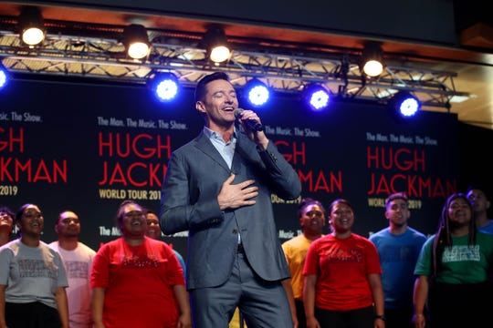 Hugh Jackman promotes his world tour in Auckland, New Zealand, on Feb. 27, 2019.