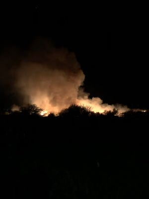 Marana stops its fireworks show because of a fire.