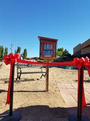 On June 21, 2018, school groundskeepers set up chairs and a podium, and Duane Yazzie and his students put out refreshments for the grand opening of the first Little Free Library on the Navajo Nation.