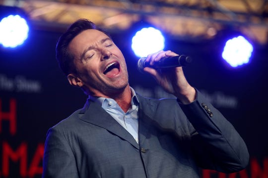 Hugh Jackman's first arena tour launched in Glasgow, Scotland, in May.