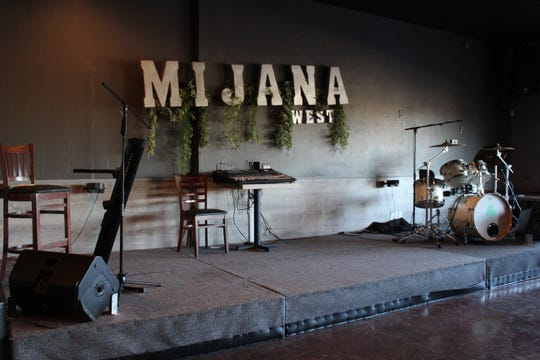 The  stage at Mijana West, the second location of Lebanese restaurant Mijana. Mijana West opened recently in Glendale.