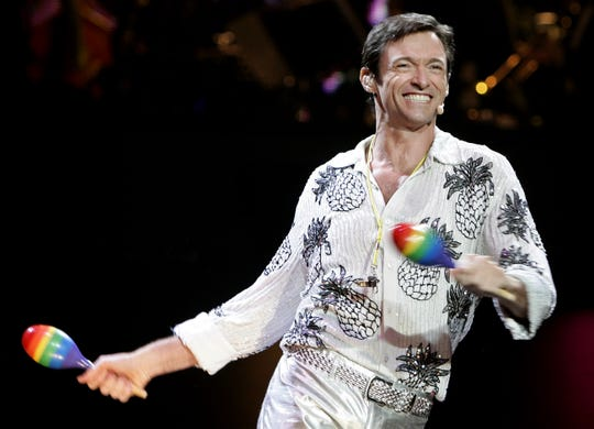 "Hugh Jackman played Peter Allen on Broadway in ""The Boy From Oz."" He'll revisit the role and the songs during his arena concert tour."