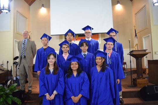 Tabernacle Christian Academy's graduating class is pictured.
