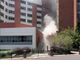 Screen shot of video taken moments after utilities explosion at the University of Nevada, Reno.