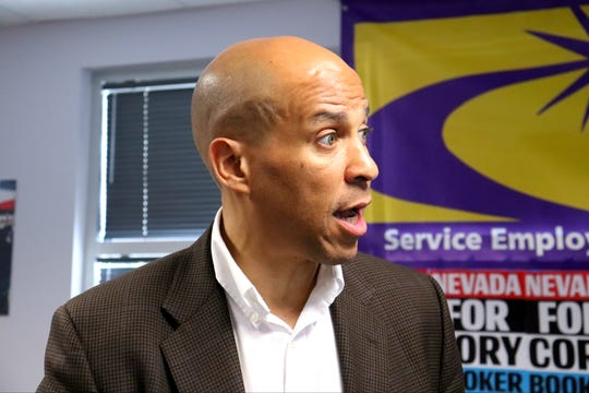 Cory Booker stoped in Las Vegas on the campaign trail this week and answered some questions for the Reno Gazette Journal.