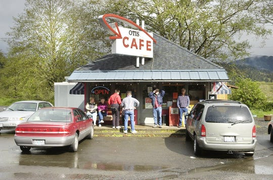 The Otis Cafe, an iconic roadside diner 5 miles east of Lincoln City, is known for having a line out the door on summer weekends.