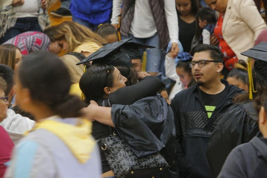 The Salinas Union High School District graduates its summer school class July 5, 2019. More than 100 students earned their diplomas.