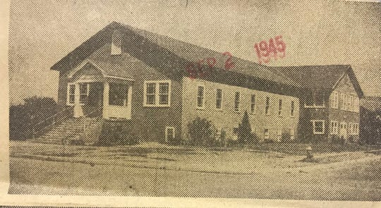 Harris Avenue Baptist Church's first building was outgrown by the early 1950s, leading to a new building which was completed in 1955.