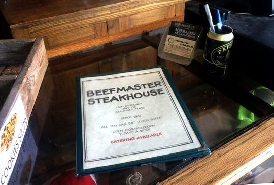 The menu at Beefmaster Steakhouse, 1608 N. Broadway St. in Ballinger, holds an array of southern classics.