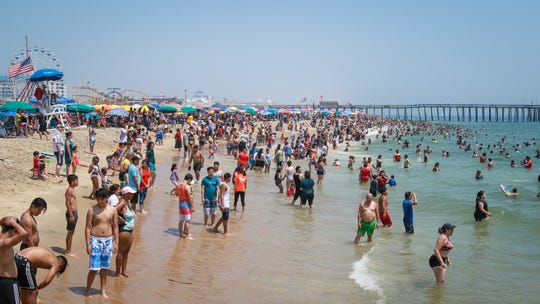 Visitors packed the beaches of Ocean City, MD on July 4, 2019.
