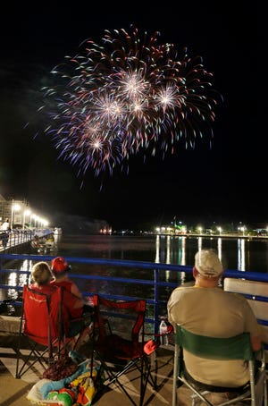 Fireworks delight people of all ages for the Fourth of July at the Sheboygan riverfront, Thursday, July 4, 2019, in Sheboygan, Wis.