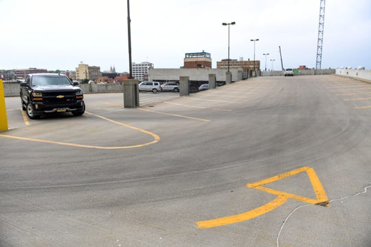 The top floor of the 1st Avenue garage is rarely ever filled. It stands nearly empty Monday, July 1, in downtown Sioux Falls.