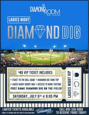 It won't just be thefield they play on, but participants in Ladies Night could win a set of $2,000 diamond earrings buried in the infield.