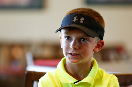 Landon Nichols qualifying to play in the U.S. Kids Golf Foundation World Championship, which takes place Aug. 1-3 at the Pinehurst Resort in North Carolina, on Wednesday, July 3, 2019.