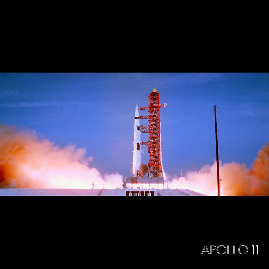 """APOLLO 11: First Steps Edition,"" a new IMAX documentary open July 12 at Challenger Learning Center IMAX Theatre. The documentary is 47 minutes and will play for three months on the regular show schedule."