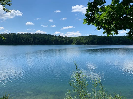 Walden Pond near Boston where Henry David Thoreau lived for two years beginning July 4, 1845.