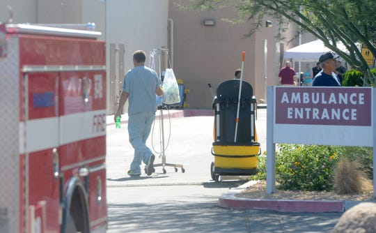 After Thursday's magnitude-6.4 earthquake, at least some patients were evacuated from Ridgecrest Regional Hospital out of an abundance of caution as aftershocks rocked Southern California.