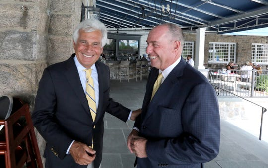 Jeffrey Citron, president of the club's board, left, and Bruce Frank, treasurer, at the Fenway Golf Club in Scarsdale July 5, 2019.