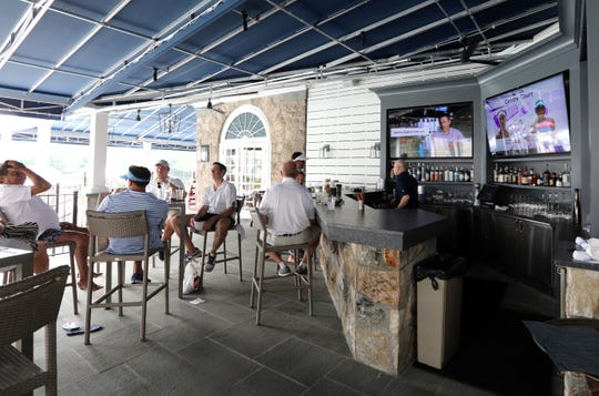 The new terrace bar at the Fenway Golf Club in Scarsdale July 5, 2019.