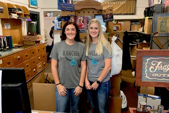 Browse Shop manager Jessica Amy and owner Megan Ermis behind the counter of the storied East Scott western wear shop. The Browse Shop is set to close on August 10 after 51 years of business.
