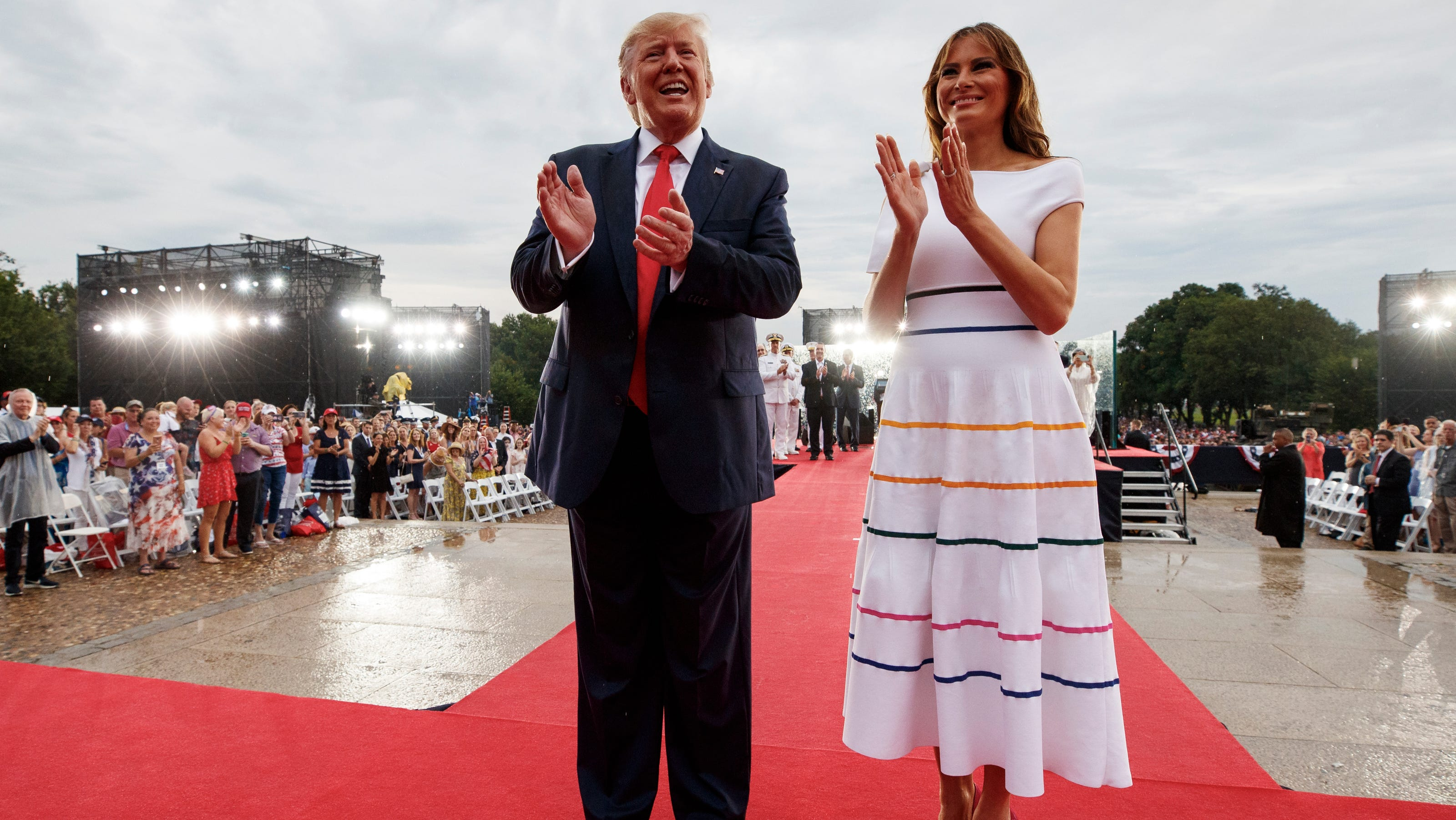 Melania Trump July 4th Rainbow Stripe Dress Gay Pride