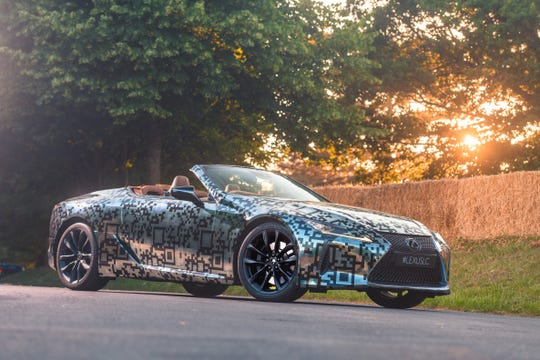 Lexus is expanding its LC flagship coupe range with an open-top version to be produced in the near future
