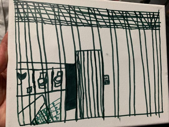 A child's depiction of life inside a border detention center.