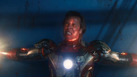 "Mad scientist Aldrich Killian (Guy Pearce) goes off the rails in ""Iron Man 3."""
