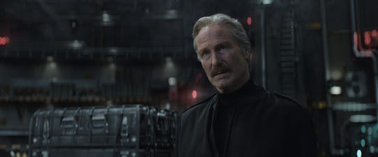 "General Thunderbolt Ross (William Hurt) tangles with Tony Stark in ""Captain America: Civil War."""