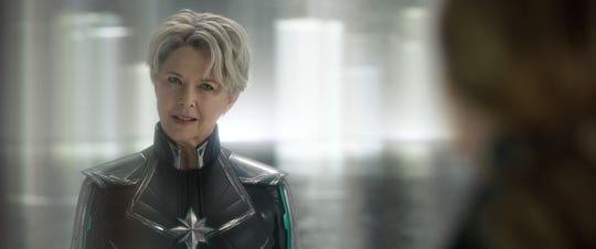 "Supreme Intelligence (Annette Bening) in ""Captain Marvel."""